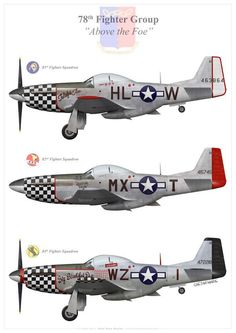 P-51D's of the 78th Fighter Group the 'Duxford Eagles'
