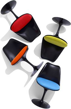 Hive tulip chairs in black