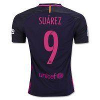 FC Barcelona Away 2016-17 Season #9 SUAREZ Soccer Jersey