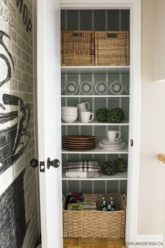 Get Organized - Making a Closet Pantry Prettier from MichaelsMakers AKA Design
