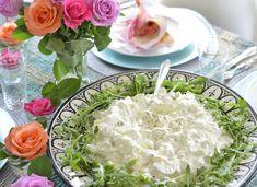 Farmoren min var utrolig god til å lage mat og hun laget virkelig Verdens bestehjemmelagde potetsalat. Jeg var heldig å få oppskriften, jeg tenkte derfor jeg ville dele den med deg. Den passer perfekt til grillmat, på koldtbordet eller sammen med en god salattil fisk eller kjøtt. Den er en god klassisk potetsalat som jeg … Gourmet Recipes, New Recipes, Dinner Recipes, Scandinavian Food, World Recipes, Food Inspiration, Sweet Potato, Tapas, Side Dishes