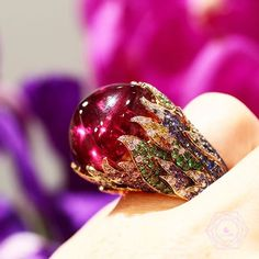 Come on baby light my fire! Amazing ring by talented @alessio_boschi_jewels w/ tourmaline. Big ring for big heart!