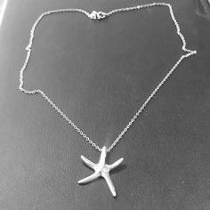 925 sterling silver starfish necklace 925 stamped on both charm and chain. Brand new. Jewelry Necklaces