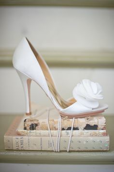 The perfect white wedding shoes