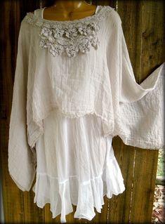 Reminds me of my High School graduation photo.  Gauze Lace top ~ Paris Rags by Pmarie