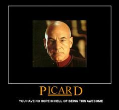 Captain Picard. 'Star Trek The Next Generation.' The man who proves that having a full head of hair is completely overrated.