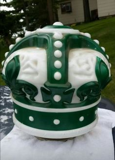 Original Standard Oil Green Crown Gas Globe