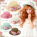 ●floral ribbon Scallop  boater