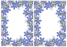 Blue floral flowers A5 Insert on Craftsuprint - Add To Basket!