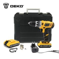 62.99$  Buy now - http://alio1s.shopchina.info/go.php?t=32796408838 - DEKO GCD18DU2 18V DC New Design Mobile Power Supply Lithium-Ion Battery Cordless Drill/Driver Power Drill Tools Electric Drill 62.99$ #shopstyle