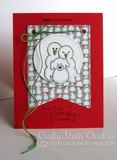 Canines & Card Designs: Deck the Halls with Inky Paws Blog Hop by Newton's Nook Designs    Flaky Family Stamp Set by Newton's Nook Designs