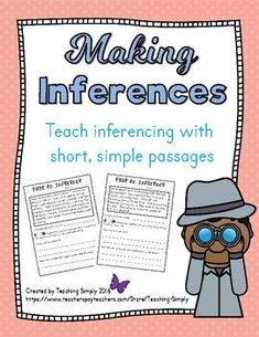 BEST SELLER!! Teach students about inferencing in a fun, engaging way. The stories are like mysteries to be solved. Working by themselves or with partners, students love these short, concise, easy to read passages! 35 passages in all! Hints are given and students must determine what is happening using their inferencing skills. Great for engaging reluctant readers. #Reading #ReadingComprehension #MakingInferences #Inference Comprehension Strategies, Reading Comprehension, Reading Tutoring, Short Stories For Kids, Text Evidence, Third Grade Reading, Making Inferences, Reluctant Readers, Common Core Reading