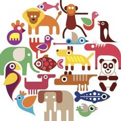 Buy Zoo Animals Round Illustration by danjazzia on GraphicRiver. Zoo Animals – round vector illustration on white background. Vector and High resolution JPEG files included. Vintage Book Covers, Free Art Prints, Art Background, Zoo Animals, Free Vector Art, Teaching Art, Art Images, Flamingo, Illustration Art