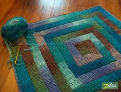 Crochet Patterns Using Bernat Home Bundle : Bernat yarn blanket. Interesting idea for blanket and color changing ...