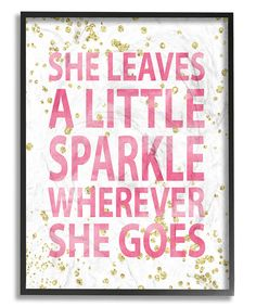 'She Leaves a Little Sparkle' Wall Art by Stupell Industries #zulily #zulilyfinds