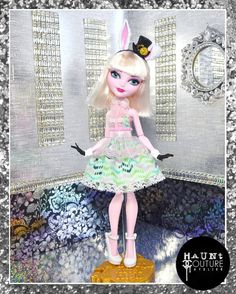 """Fairytale Doll """"Very Important Date"""" bunny ever after royal high fashion dress haunt couture"""