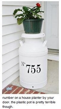 house number (minus the pot on top)