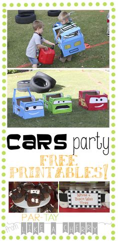 Everything you need to know to throw a Cars party including free printables