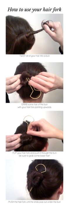 how to use a hair fork   tutorial I CL.AC.