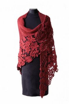 The lovely shawl TECHNOLOGY Irish lace .... Comments: LiveInternet - Russian Service Online Diaries