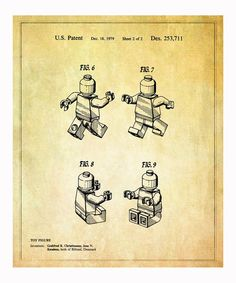 Take a look at this Lego 'Toy Figure' 2 1979 Art Print on zulily today!