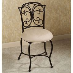 Superieur Vanity Chair Ideas : Elegant Vanity Chairs With Backs