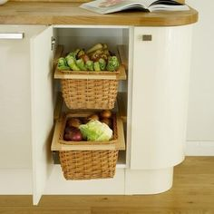 Wicker Basket Kitchen Storage Solutions Howdens Joinery