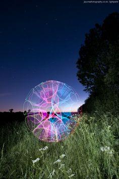 by Jules Marshall  #light_art (looks kinda like that ball in social studies)