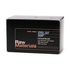 Raw Materials Steel Cut Soap, Exfoliating, 8 Ounce by Raw Materials. $12.00. Long lasting and great lather. 2 bars in every box. 100% natural. Gentle exfoliation from organic oats and herbs. Cruelty free and made in the USA. 100% natural steel cut soap. Raw materials steel cut soap is loaded with oatmeal and crushed herbs to scrub skin clean. Soap provides a rich lather from natural cleansing ingredients without irritations or an after-dry skin feel. Our two-bar ...