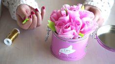 Kleine Rosen zur Dekoration   DIY Blumen aus Seidenpapier basteln