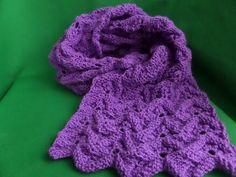 Вязание ажурного шарфа спицами. Knitting (Hobby).