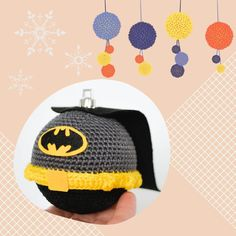 Excited to share the latest addition to my #etsy shop: Superhero Christmas ball CROCHET PATTERN #housewarming #christmas #christmasball #crochetpattern #crochethomedecor #christmastreedecor #christmaspattern #holidaypattern