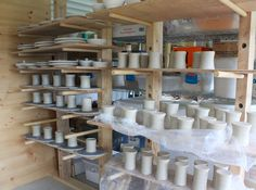 mugs in process  |   The Life & Blog of Two Potters