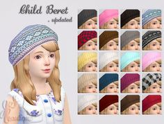 Update Child Berets at JSBoutique • Sims 4 Updates