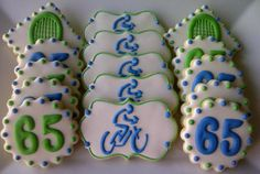 65th Birthday Cookies