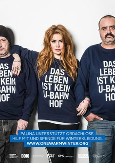 Alphasweat by Muschi Kreuzberg | campaign One Warm Winter by dojo | Berlin | Palina Rojinski