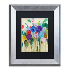 "Trademark Art 'Cest La Vie' Framed Painting Print Size: 14"" H x 11"" W x 0.5"" D, Mat Color: Black"