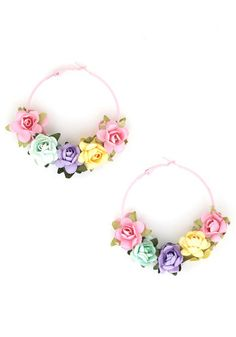 To Wreath Her Own Earrings, #ModCloth