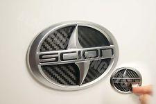 (04-2010) Scion TC Carbon Fiber Rear Trunk Inlay Emblem Decal vinyl smoked (Fits: Scion tC)