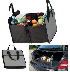 Gépkocsi csomagtartó tároló bevásárláshoz és egyéb tároláshoz. Praktikus, helytakarékosan összehajtható táska, ami szétnyitva tökéletes tárolórekesszé...