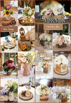 Rustic country wedding ideas - wedding centerpieces & decor #weddings #weddingideas #weddingcenterpieces #weddinginspiration
