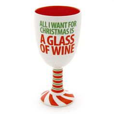 Christmas Wine Goblet- All I Want For Christmas is a Glass of Wine … Christmas Wine, All Things Christmas, Christmas Ideas, Christmas Crafts, Coffee Cup Art, Wine Glass Crafts, Decorated Wine Glasses, Wine Gifts, Holiday Fun
