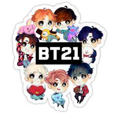Bts Chibi, Bts Taehyung, Bts Bangtan Boy, Snow White Art, Bts Tattoos, Bts Birthdays, Pop Stickers, Thanksgiving Wallpaper, Cute Stationary