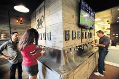 The technology has another attraction: It can measure and charge literally by the sip — something not lost on Barrel Republic, a craft beer bar in Oceanside, Calif., and San Diego's Pacific Beach where there are dozens of craft beers on tap and no bartender.