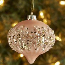 Beaded Onion Ornament