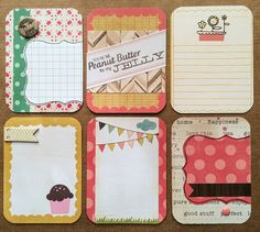 Pretty in Pink Project Life Cards 3x4 by jessicabree on Etsy