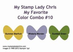 Stampin' Up Color Combo  Summer Starfruit, Wisteria Wonder & Gumball Green