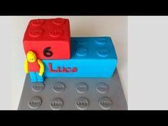 LEGO Motivtorte/Fondant Torte/Geburtstagstorte/Legostein/Anleitung deutsch