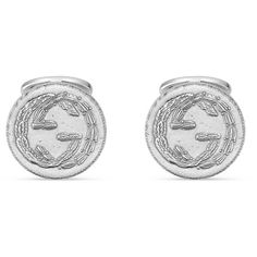 Gucci Interlocking G Cufflinks ($315) ❤ liked on Polyvore featuring jewelry, watches, for men, jewellery & watches, silver jewellery, gucci, gucci wrist watch, interlocking jewelry, gucci jewellery and chain watches