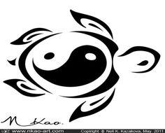 sea turtle = fertility symbol inner circle/heart